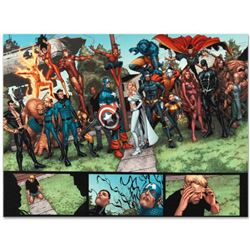 "Marvel Comics ""New Avengers #8"" Numbered Limited Edition Giclee on Canvas by Steve McNiven; Includes"