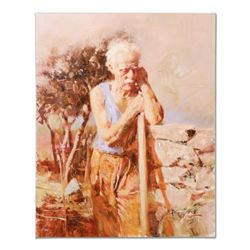 "Pino (1939-2010) - ""A Day in the Field"" Artist Embellished Limited Edition on Canvas, AP Numbered an"