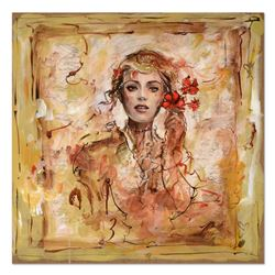 Marta Wiley, Original Mixed Media Painting on Board, Thumb Printed and Hand Signed with Certificate