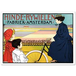 """""""Hinde Rywielen"""" Hand Pulled Lithograph (38"""" x 27"""") by the RE Society, Image Originally by Johann Ge"""