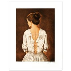 """""""She Stoops To Folly"""" Limited Edition Lithograph by Rafal Olbinski, Numbered and Hand Signed with Ce"""