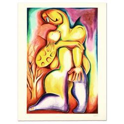"""Alexandra Nechita, """"Embracing Growing Up"""" Limited Edition Lithograph, Numbered and Hand Signed."""