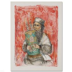 """""""Israeli Rabbi"""" Limited Edition Lithograph by Edna Hibel (1917-2014), Numbered and Hand Signed with"""