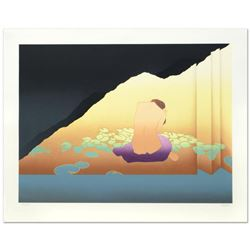 """""""Woman in Lillied Shoji"""" Limited Edition Serigraph (40"""" x 30"""") by Derrick Brown, Numbered and Hand S"""