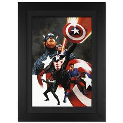 """""""Captain America #600"""" Extremely Limited Edition Giclee on Canvas (29"""" x 40"""") by Steve Epting and Ma"""