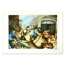 """Raymond Poulet, """"Cooper"""" Limited Edition Lithograph, Numbered and Hand Signed."""