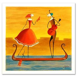"""Ester Myatlov - """"Love on a Gondola"""" Limited Edition Serigraph, Numbered and Hand Signed with Certifi"""