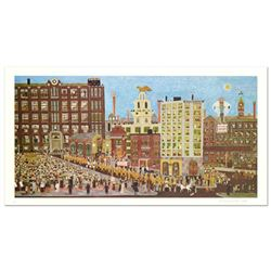 """Ralph Fasanella (1914-1997), """"Bay State"""" Limited Edition Lithograph, Numbered and Hand Signed with L"""