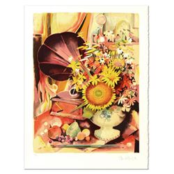 "Robert Vernet Bonfort, ""Bouquet"" Limited Edition Lithograph, Numbered and Hand Signed."