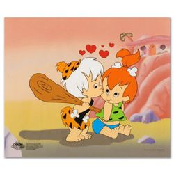 """Pebbles and Bam Bam"" Limited Edition Sericel from the Popular Animated Series The Flintstones. Incl"