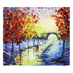 "Svyatoslav Shyrochuk- Original Oil on Canvas ""Rainy Evening"""