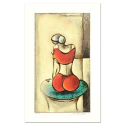 """David Schluss, """"Mia"""" Limited Edition Serigraph, Numbered and Hand Signed with Letter of Authenticity"""