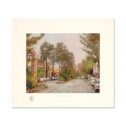 """Thomas Kinkade (1958-2012), """"Carmel, Ocean Ave II"""" Limited Edition Offset Lithograph, Numbered and H"""