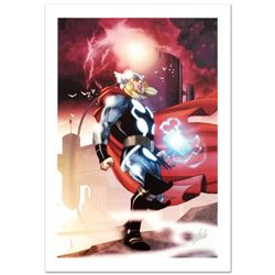 """""""Thor #615"""" Ltd Ed Giclee on Canvas by Joe Quesada and Marvel Comics. Numbered and Hand Signed by St"""