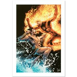 """""""Ultimate Fantastic Four #26"""" Limited Edition Giclee on Canvas by Greg Land and Marvel Comics. Numbe"""