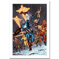 """""""Avengers/Invader #11"""" Limited Edition Giclee on Canvas by Steve Sadowski and Marvel Comics. Numbere"""