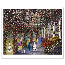 """""""Down the Garden Path"""" Limited Edition Lithograph by Jane Wooster Scott, Numbered and Hand Signed wi"""