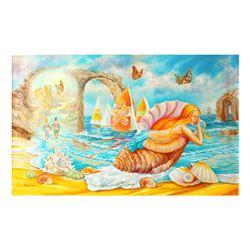 "Eugene Poliarush- Original Oil on Canvas ""Adam and Eve"""