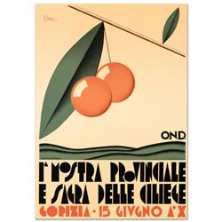 """""""Le Nostre Provinciale"""" Hand Pulled Lithograph by the RE Society. Includes Certificate of Authentici"""