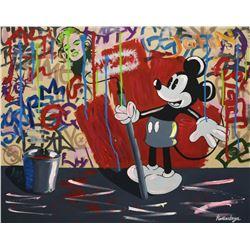 """Nastya Rovenskaya- Mixed Media """"Mickey's Renovation"""""""
