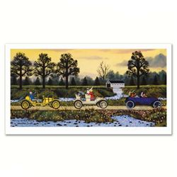 """""""Merrily We Roll Along"""" Limited Edition Lithograph by Jane Wooster Scott, Numbered and Hand Signed w"""