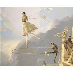 "Michael Parkes ""Tuesday's Child"" Masterworks on Canvas"