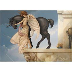 "Michael Parkes ""Dark Unicorn"" Masterworks on Canvas"