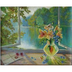 "Alexander Borewko- Original Oil on Canvas ""Open Windows"""