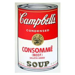 "Andy Warhol ""Soup Can 11.52 (Consomme)"" Silk Screen Print from Sunday B Morning."