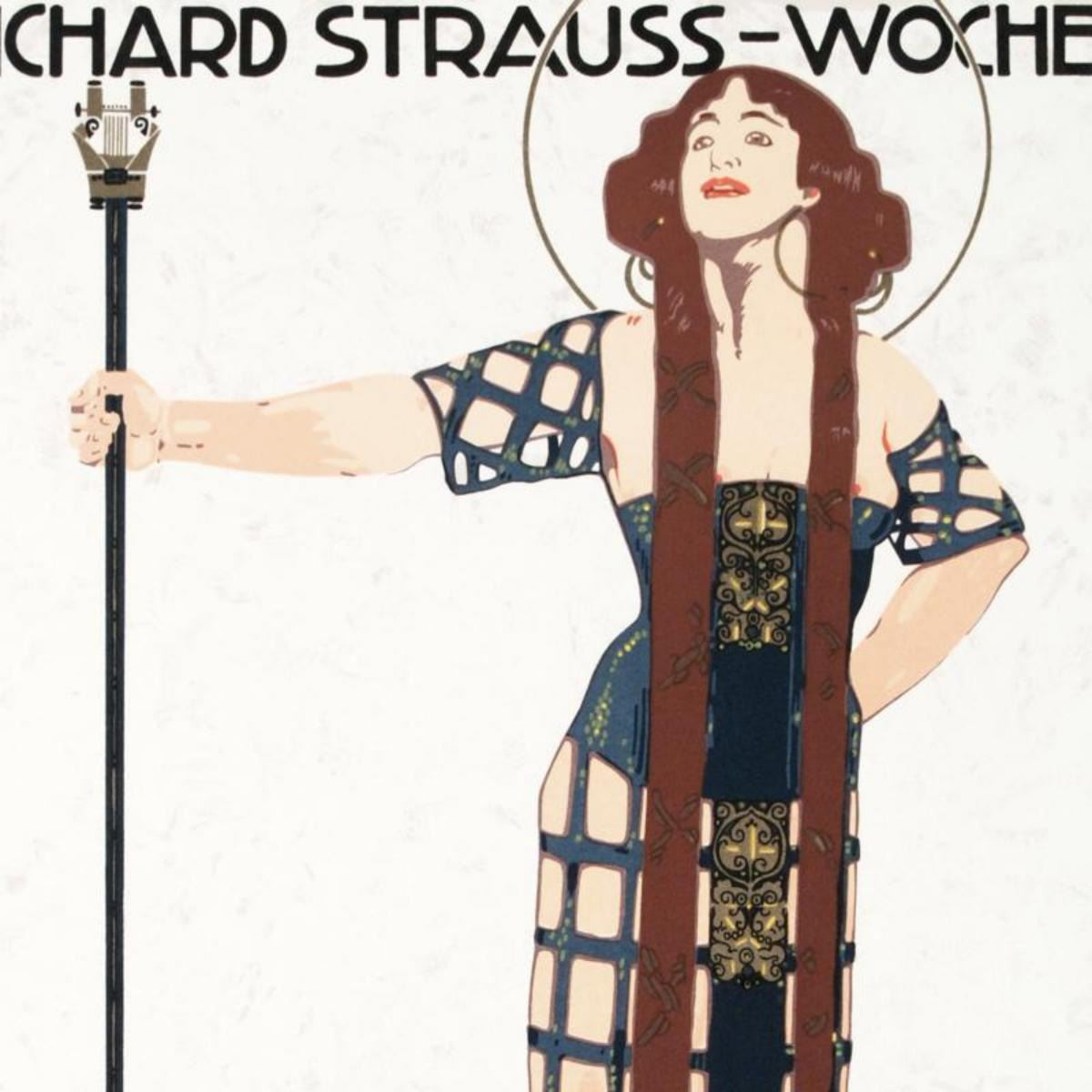 """/""""Richard Strauss/"""" Hand Pulled Lithograph by the RE Society by Ludwig Hohlwein"""