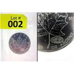 2000 Silver Royal Canadian Mint Maple Leaf Coin