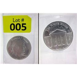 1 Oz. .999 Fine Silver Donald Trump Round