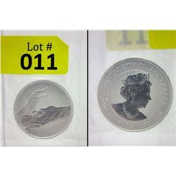 2 Oz. .9999 Fine Silver 2019 Crocodile Coin