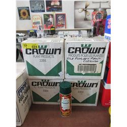 4 Cases of Crown Silk Flower & Plant Cleaner