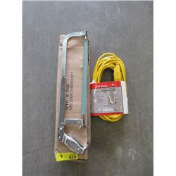 New 25 Foot Extension Cord & Case of New Hack Saws