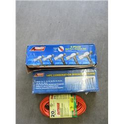 20 Foot Extension Cord & 2 Tool Sets