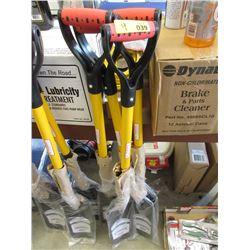 4 New D-Handle Drain Spade Shovels