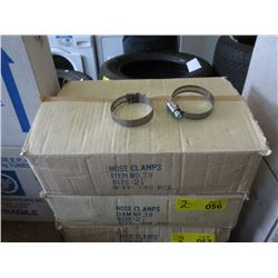 """2 Boxes of 2 -1/4"""" Hose Clamps - 100 Per Box"""
