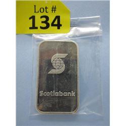 1 Oz. .999 Fine Silver Scotia Bank Bar