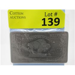 1 Oz .999 Fine Titanium USA Mint Buffalo Bar