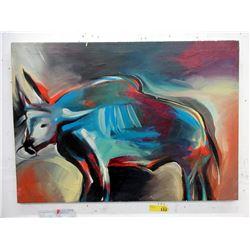 Original Painting of Bull by Cuban Artist