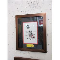"Richard Shorty Framed Print ""Snowy Owl"""