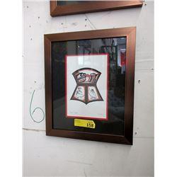 "Richard Shorty Framed Print ""Copper Design"""