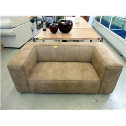 New Brown 5 Foot Fabric Upholstered Sofa