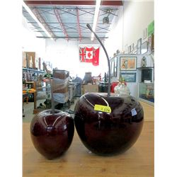 Two Large Cherry Ornaments