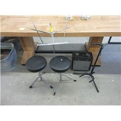 Traynor Guitar Amp, Drum Stools and more