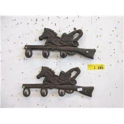 Two Western Style Cast Metal Key Racks