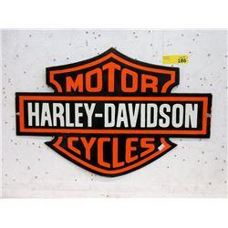 Enameled Steel Harley Davidson Sign