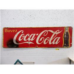 Vintage Steel French Canadian Coca-Cola Sign