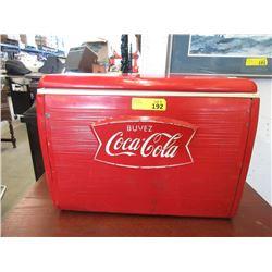 1950s Vintage Metal Clad Coca-Cola Cooler